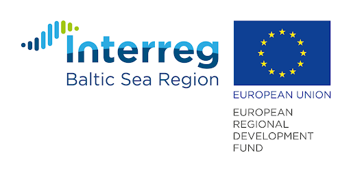 Logos Interreg Baltic Sea Region programme and European Union European Regional Development Fund