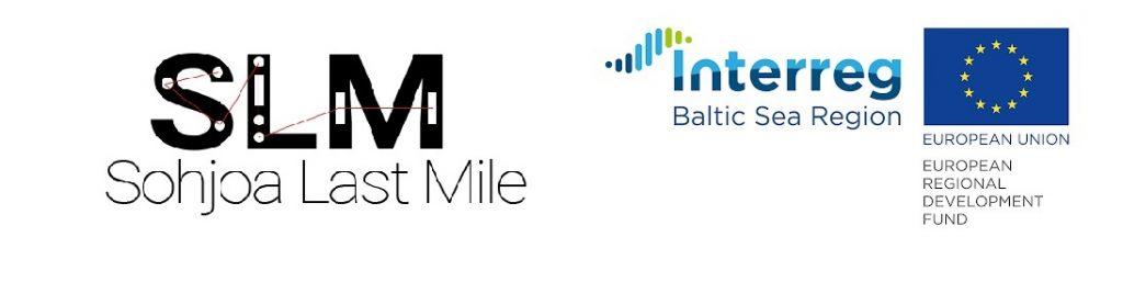 Sohjoa Last Mile logo, Interreg Baltic Sea Region and EU regional development logo
