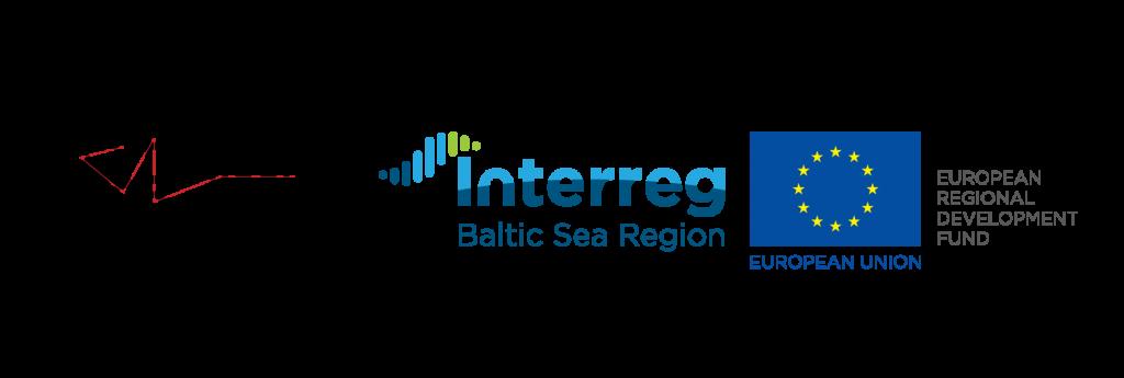Sohjoa Last Mile logo, Interreg Baltic Sea Region logo, European Union European Regional Development Fund logo.